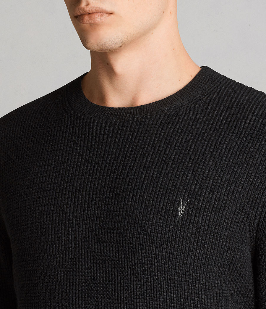Men's Mert Crew Jumper (black) - Image 2