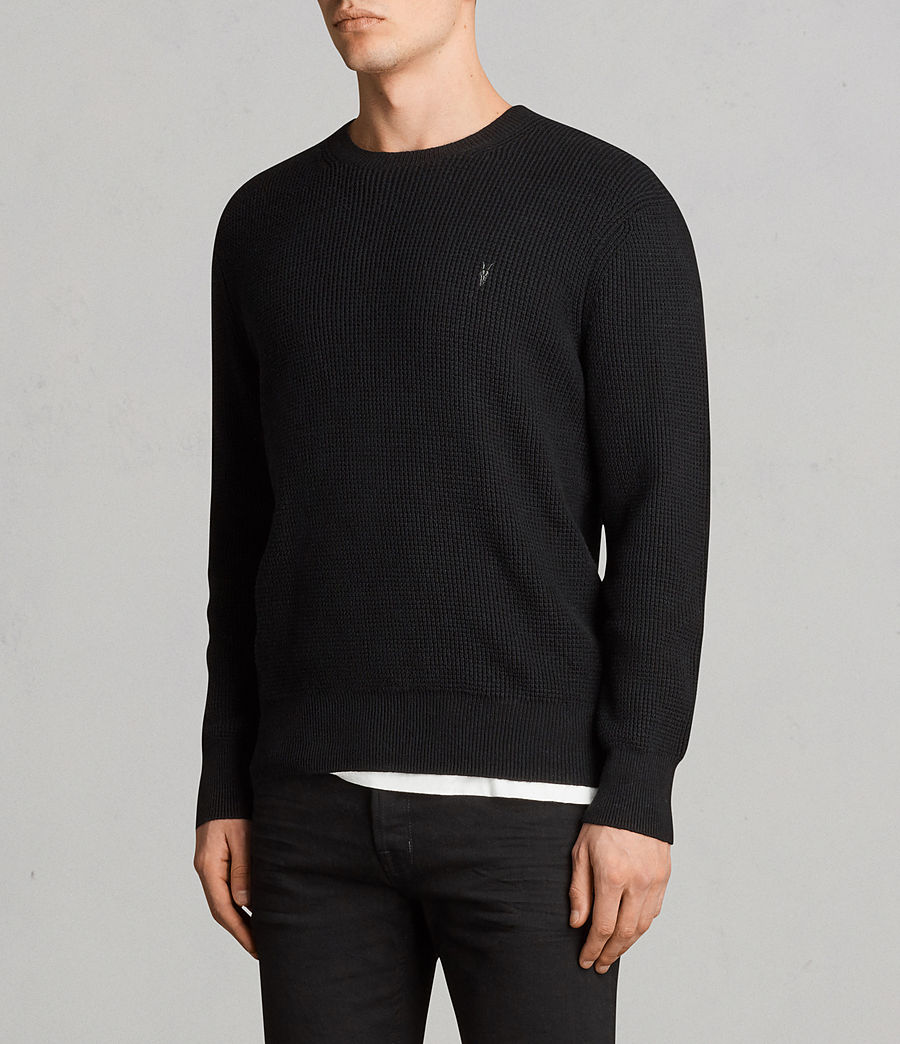 Men's Mert Crew Jumper (black) - Image 3