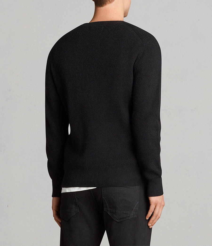 Men's Mert Crew Jumper (black) - Image 4
