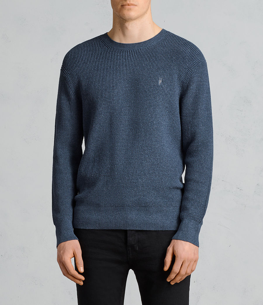 Hommes Pull Mert (washed_navy_marl) - Image 1