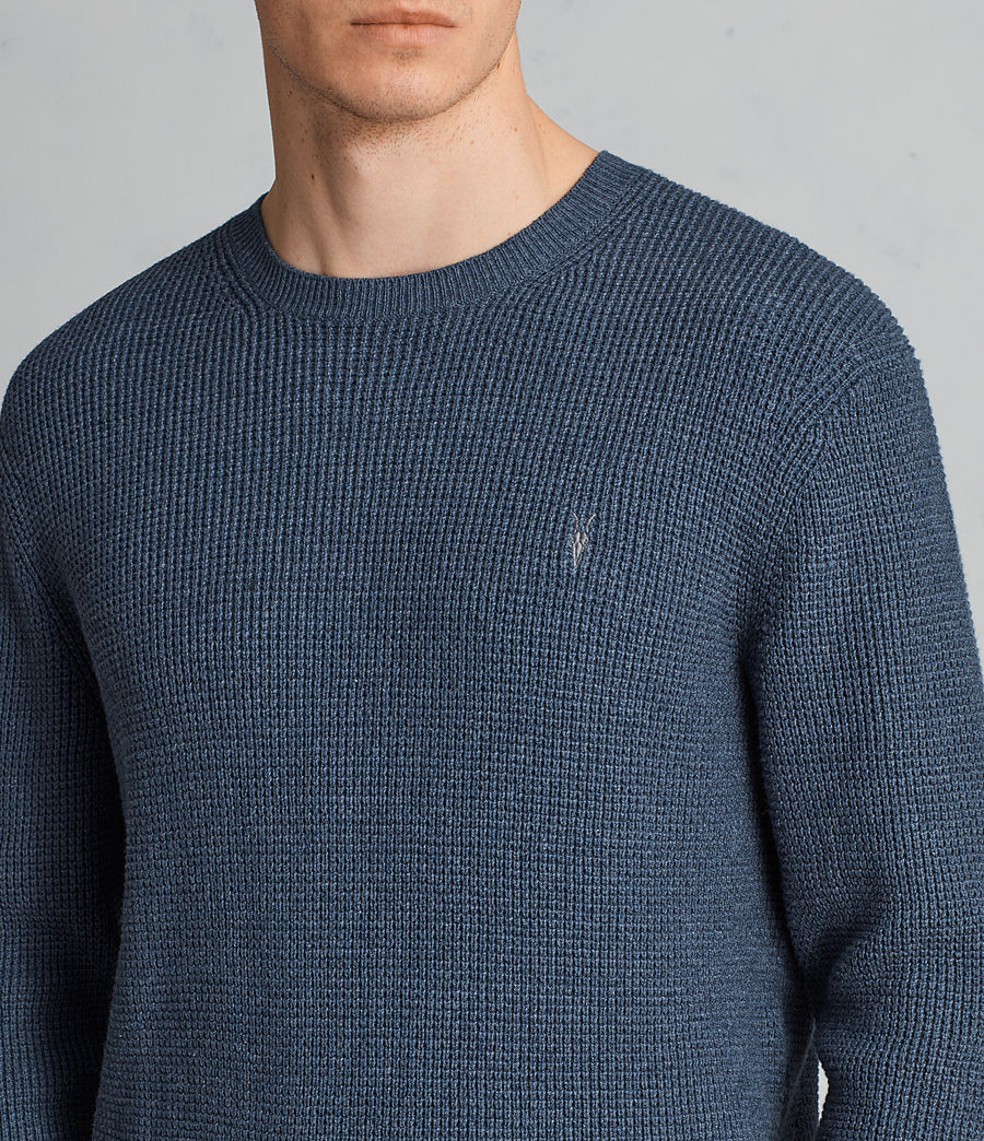 Hommes Pull Mert (washed_navy_marl) - Image 2