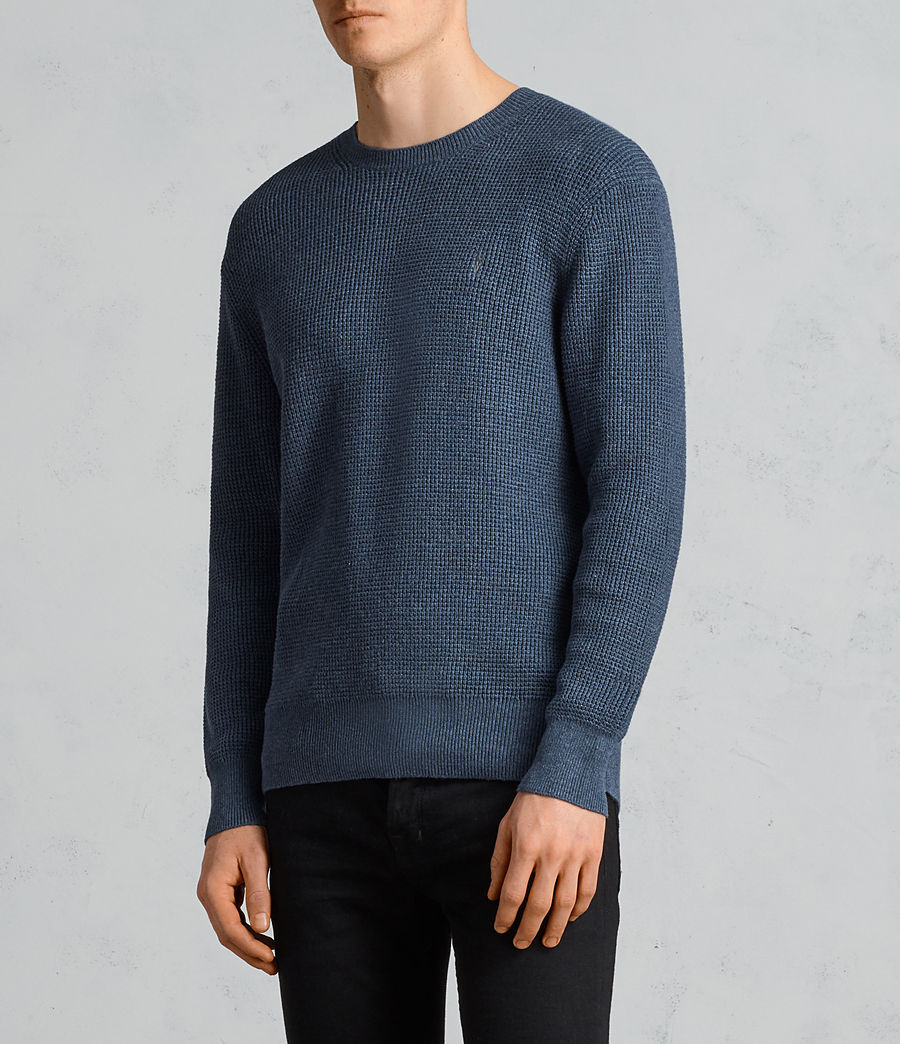 Hommes Pull Mert (washed_navy_marl) - Image 3