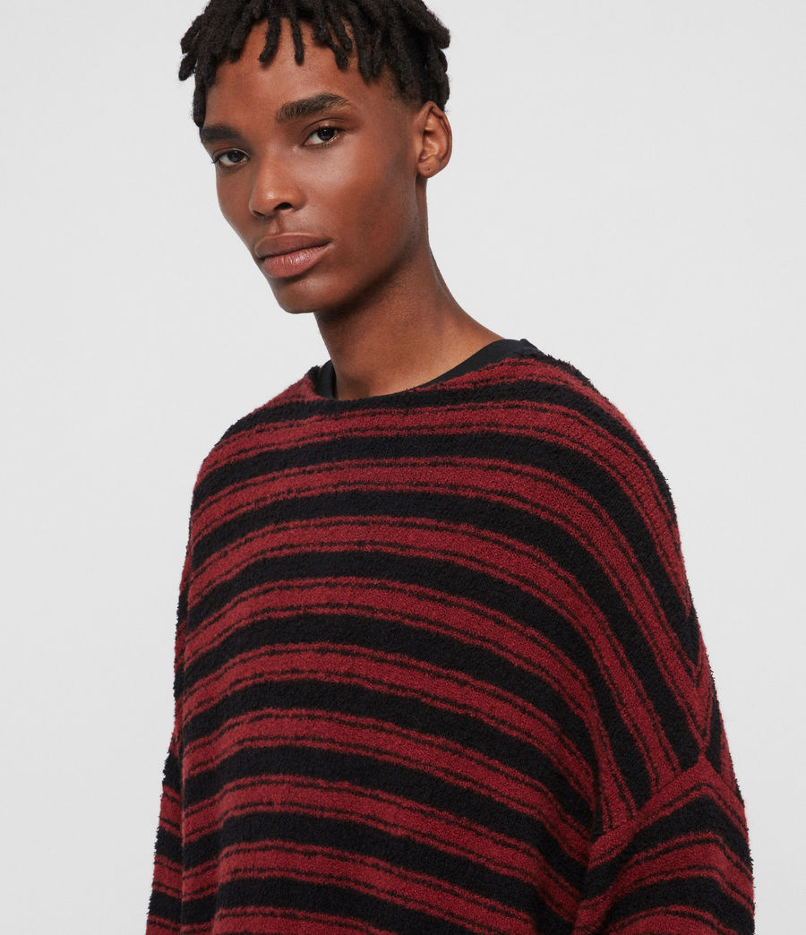 Mens Rivven Crew Sweater (barn_red_black) - Image 2