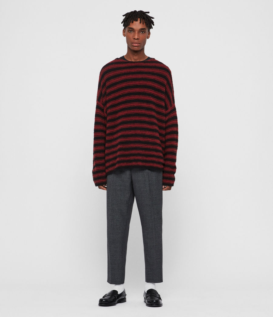 Mens Rivven Crew Sweater (barn_red_black) - Image 3