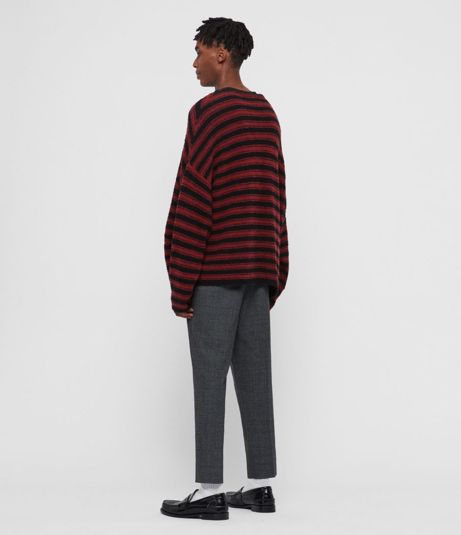 Mens Rivven Crew Sweater (barn_red_black) - Image 5