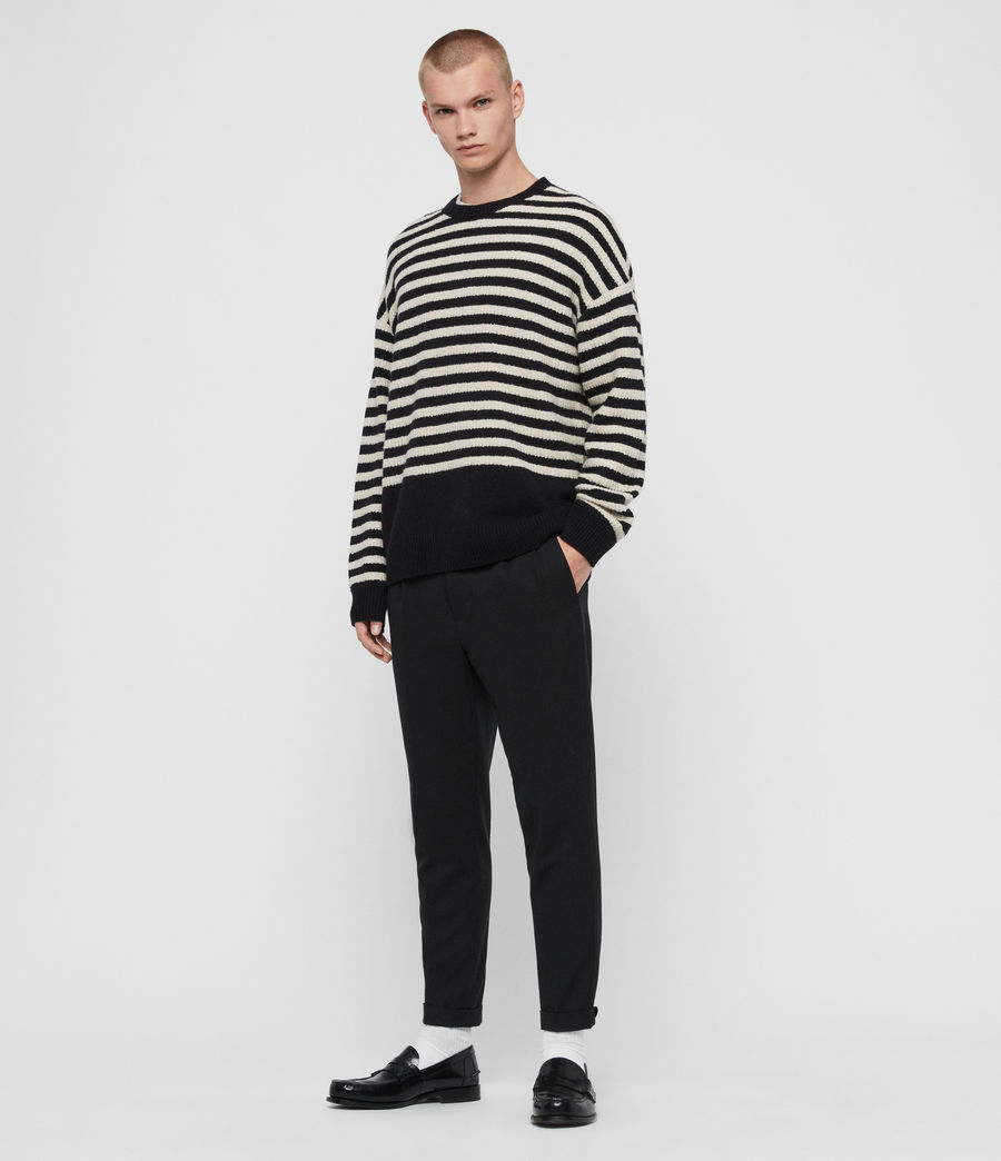 Men's Keet Crew Jumper (ink_navy_ecru) - Image 3