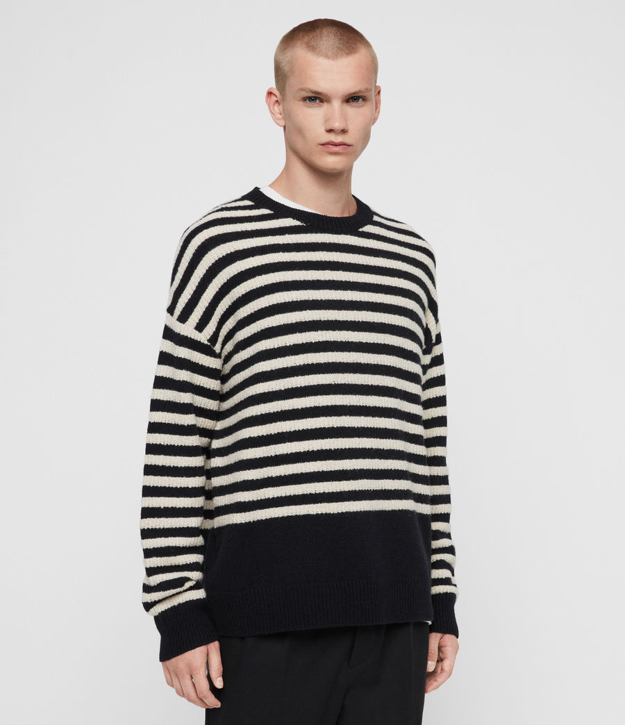 Men's Keet Crew Jumper (ink_navy_ecru) - Image 4