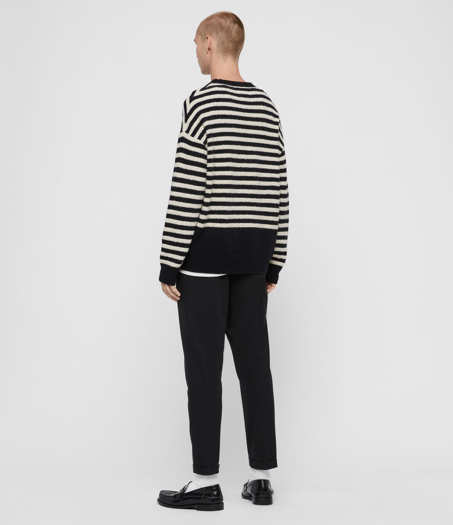 Men's Keet Crew Jumper (ink_navy_ecru) - Image 5