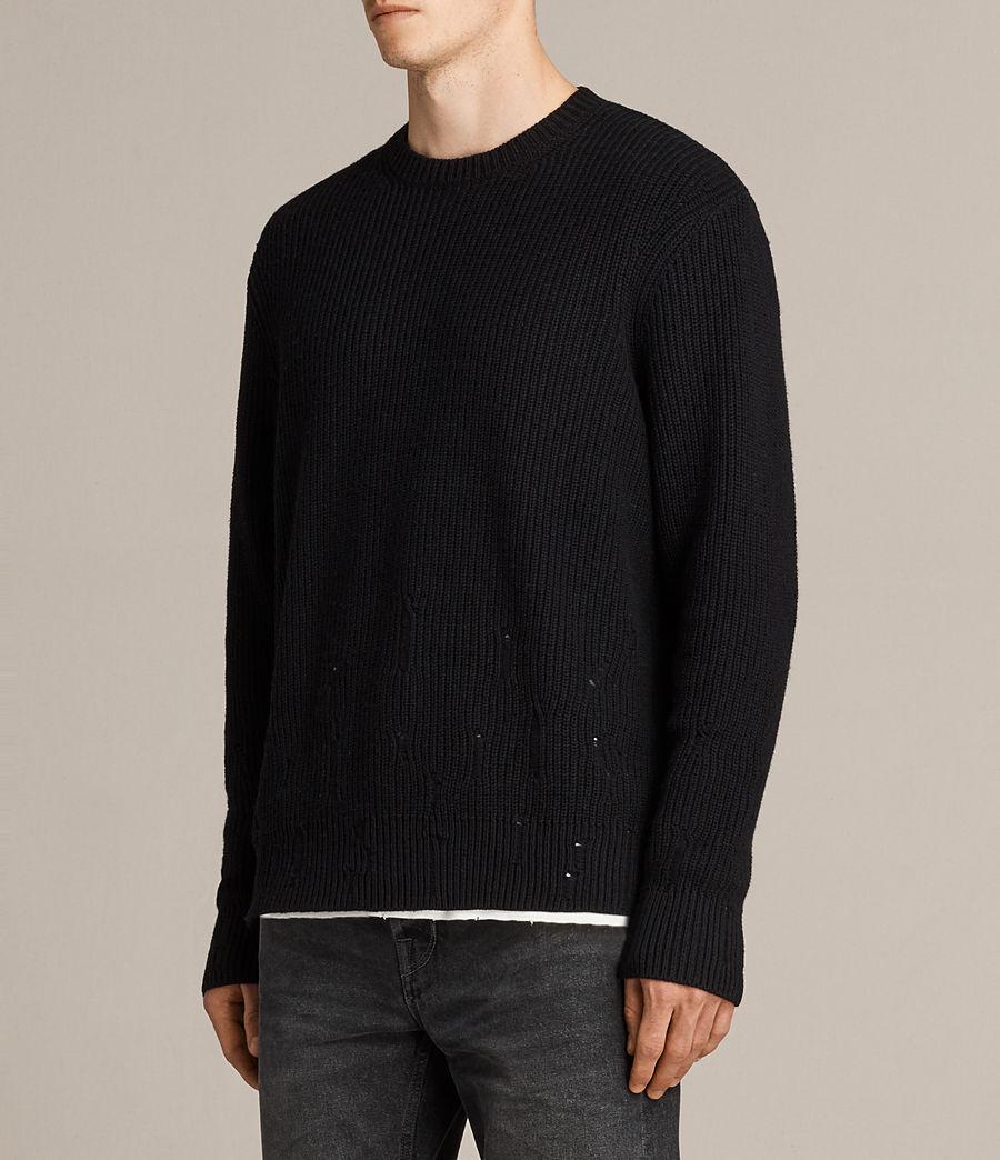Herren Ivann Crew Pullover (black) - Image 3