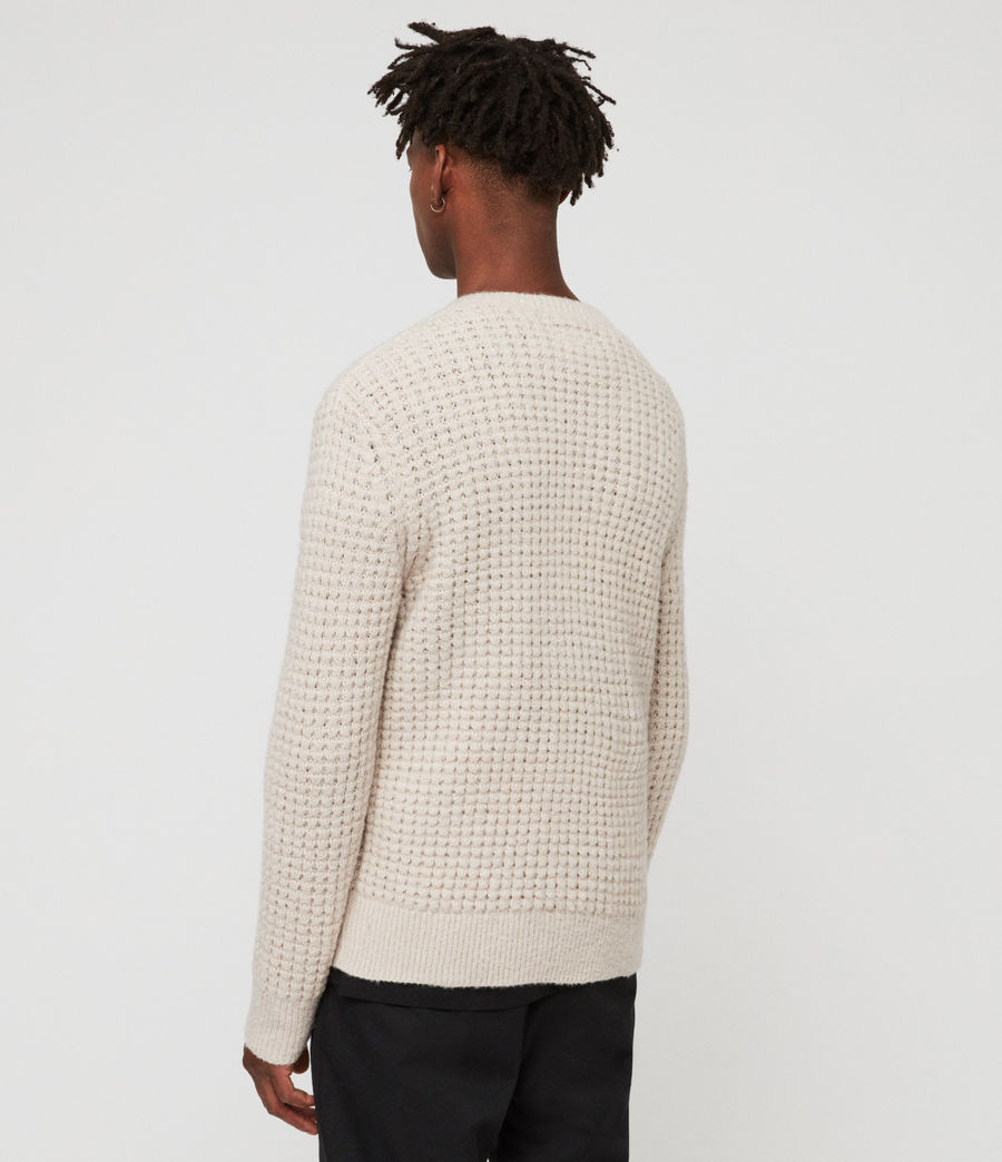Mens Vander Crew Sweater (ecru_white) - Image 4