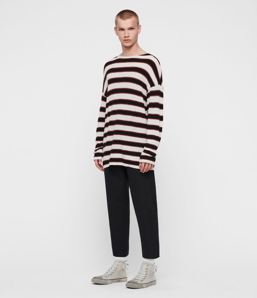 Men's Terren Crew Jumper (ecru_black_red) - Image 4