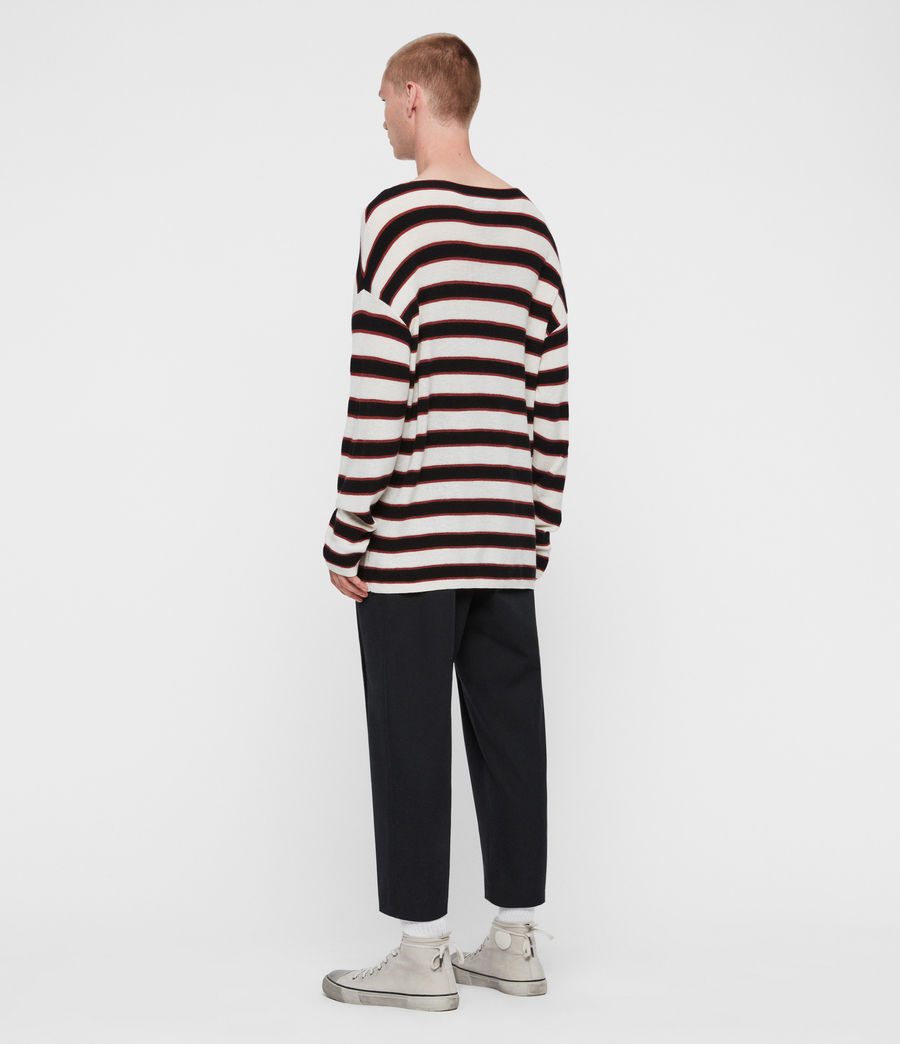 Mens Terren Crew Sweater (ecru_black_red) - Image 5