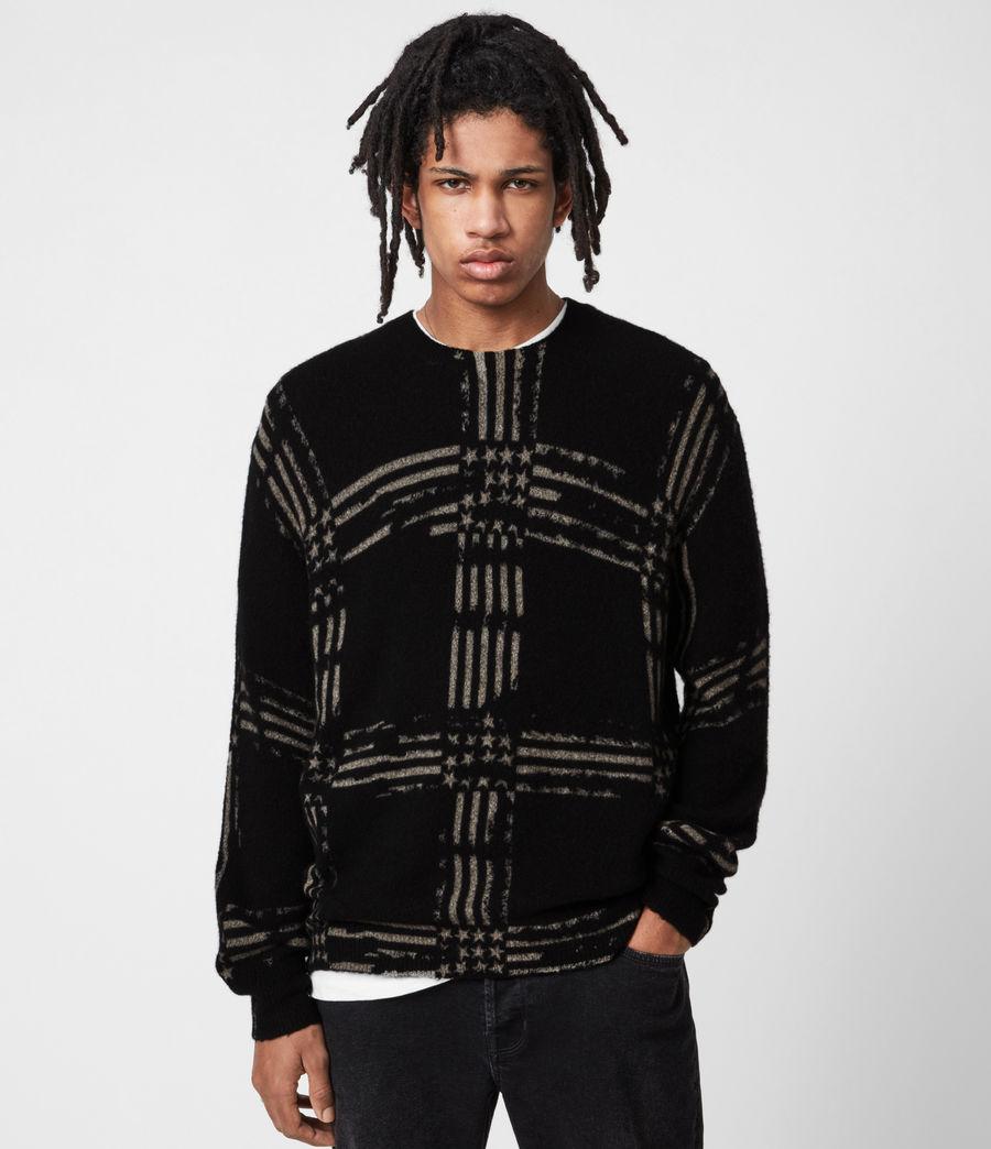 Mens Union Crew Sweater (black) - Image 1