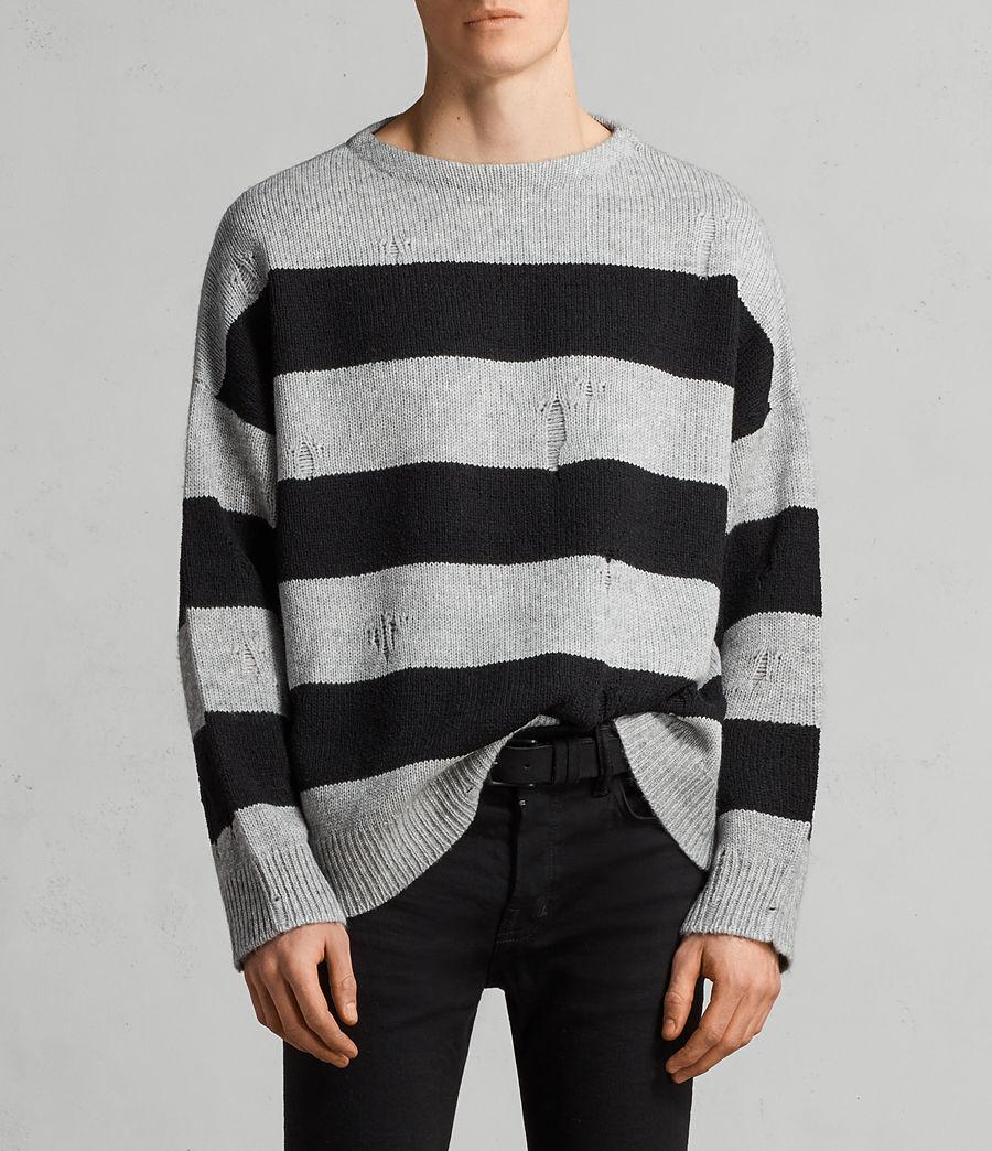 Mens Demo Crew Sweater (grey_marl_black) - Image 1