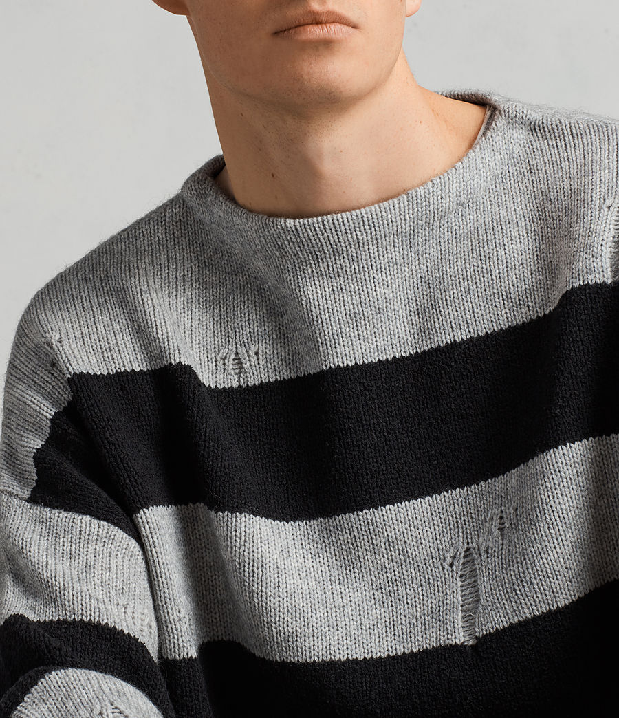 Mens Demo Crew Sweater (grey_marl_black) - Image 2