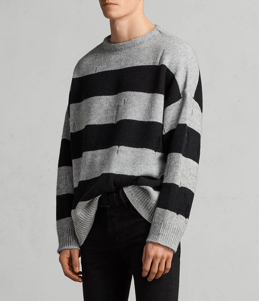 Mens Demo Crew Sweater (grey_marl_black) - Image 3