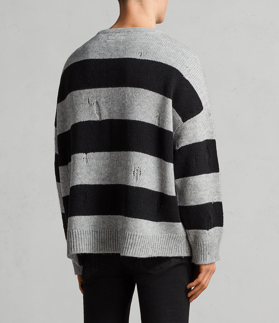 Mens Demo Crew Sweater (grey_marl_black) - Image 4