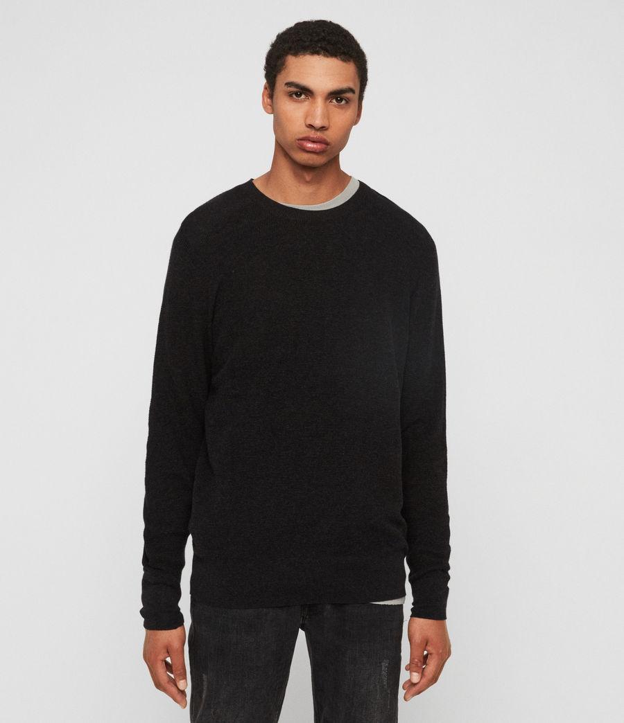 Mens Eben Crew Sweater (cinder_black_marl) - Image 1