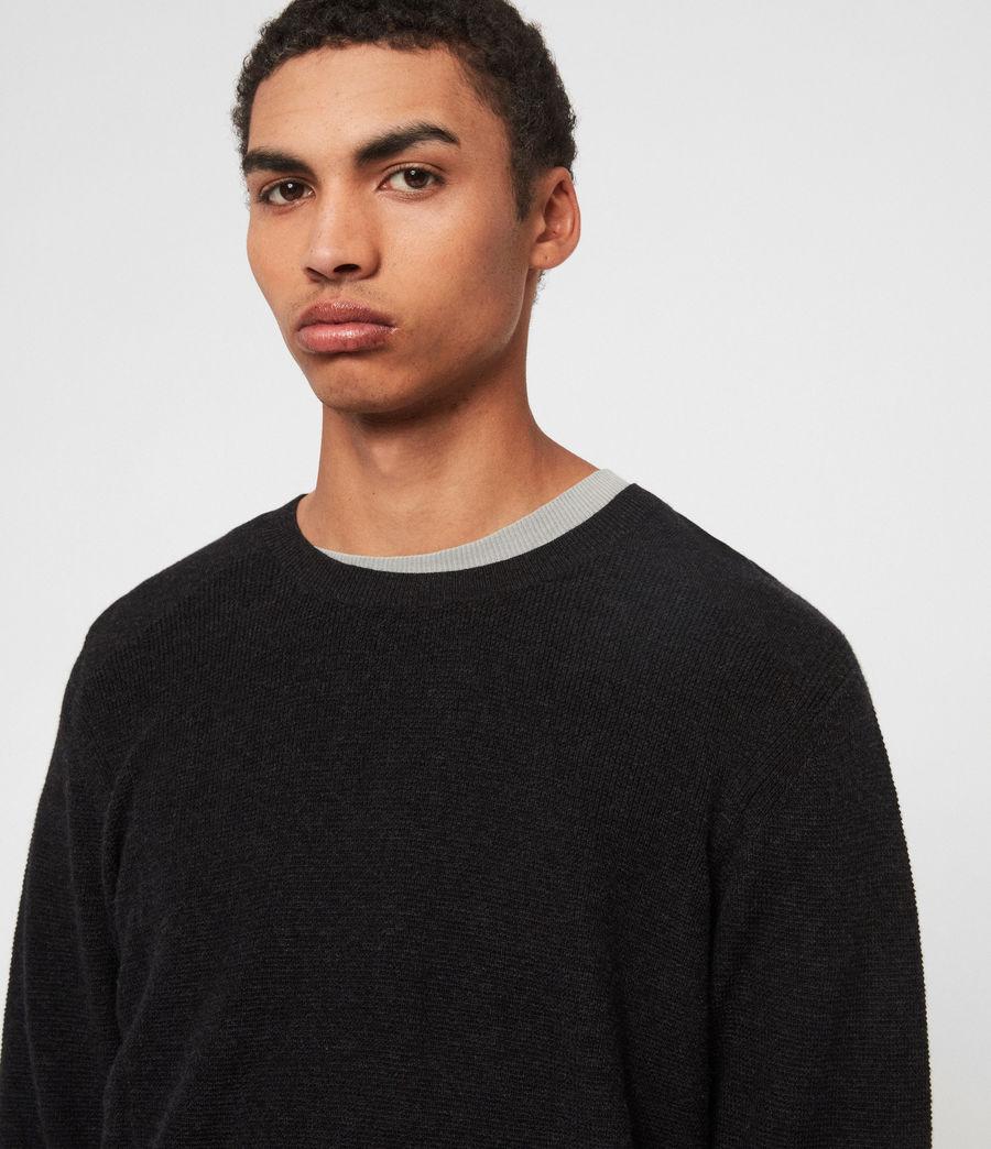 Mens Eben Crew Sweater (cinder_black_marl) - Image 2