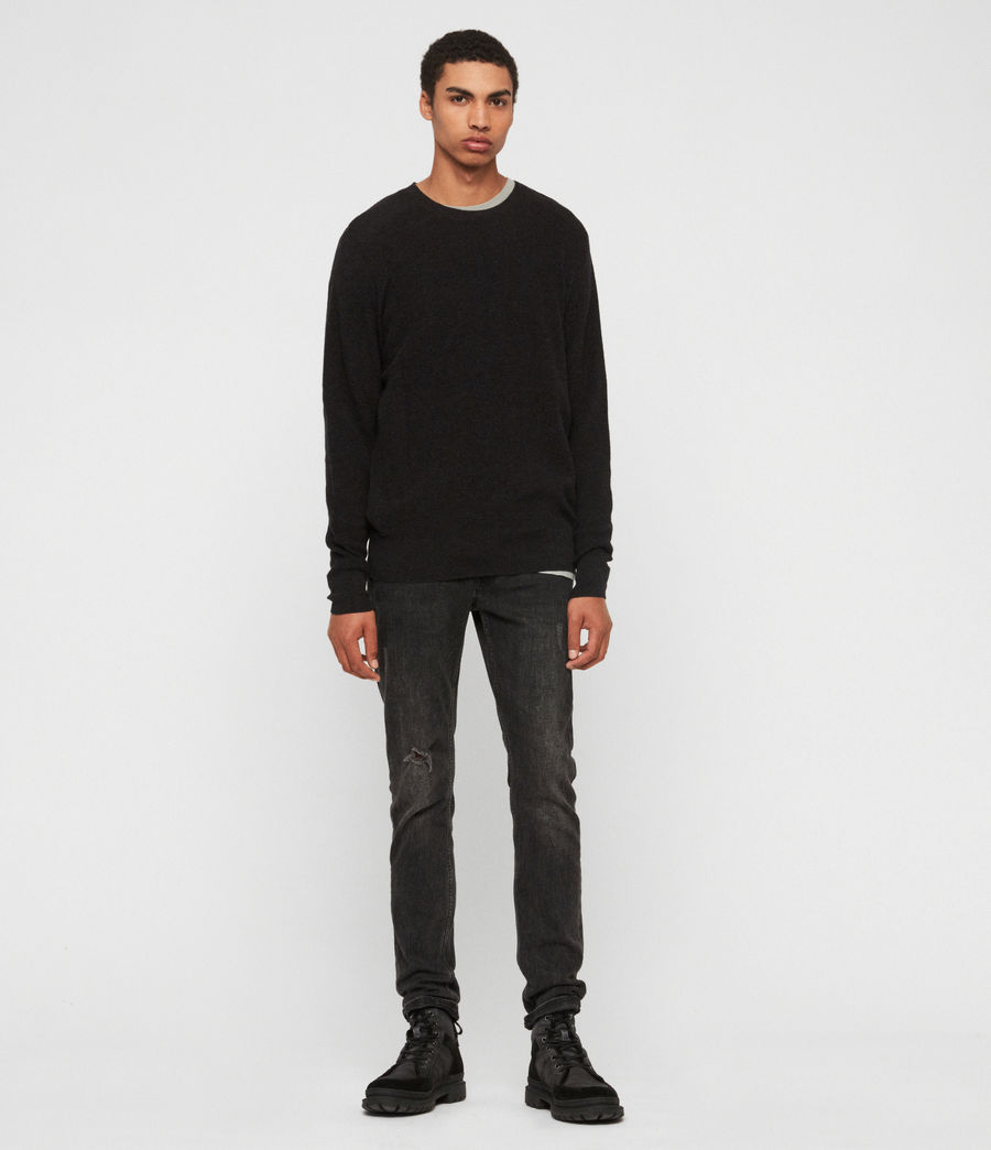 Mens Eben Crew Sweater (cinder_black_marl) - Image 3