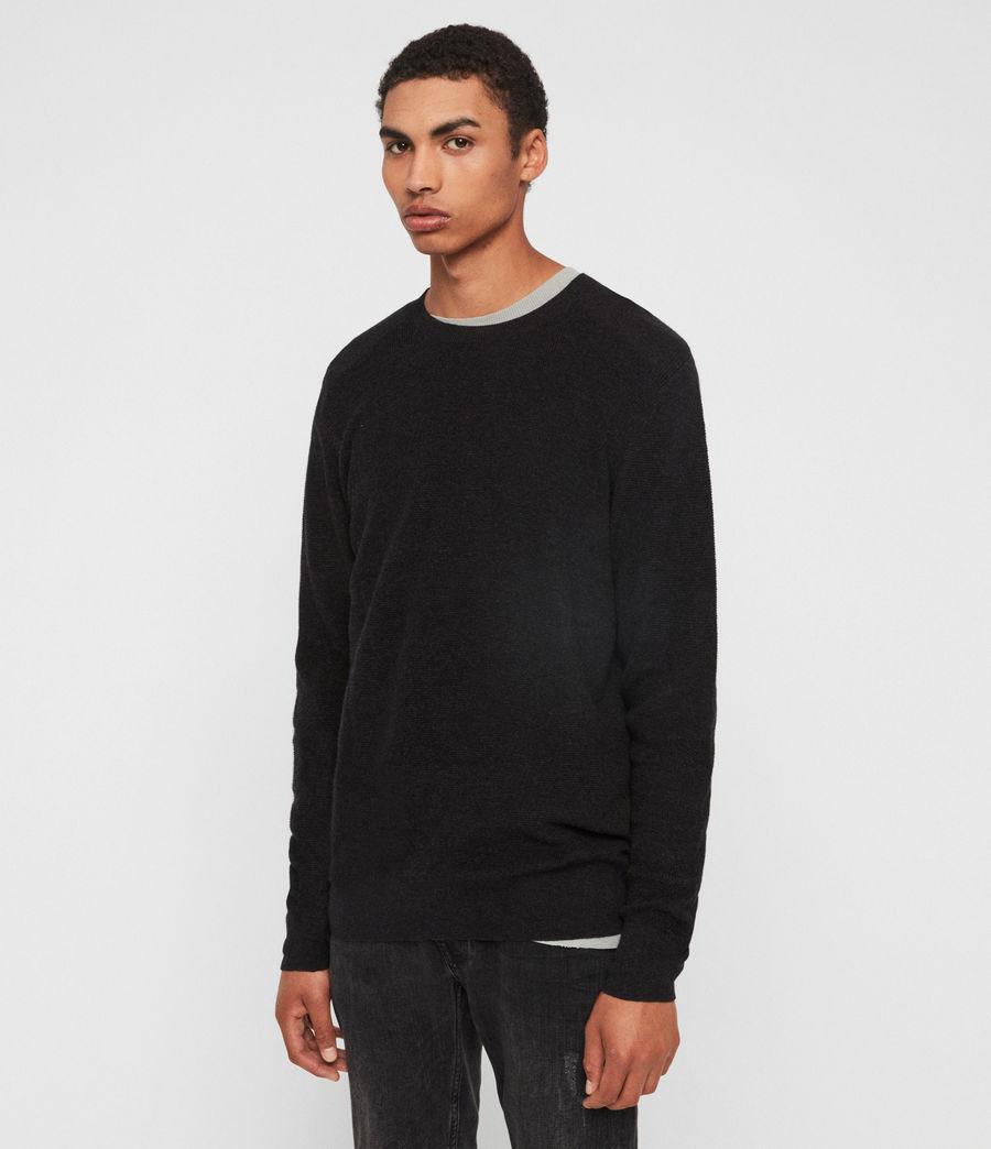 Mens Eben Crew Sweater (cinder_black_marl) - Image 4