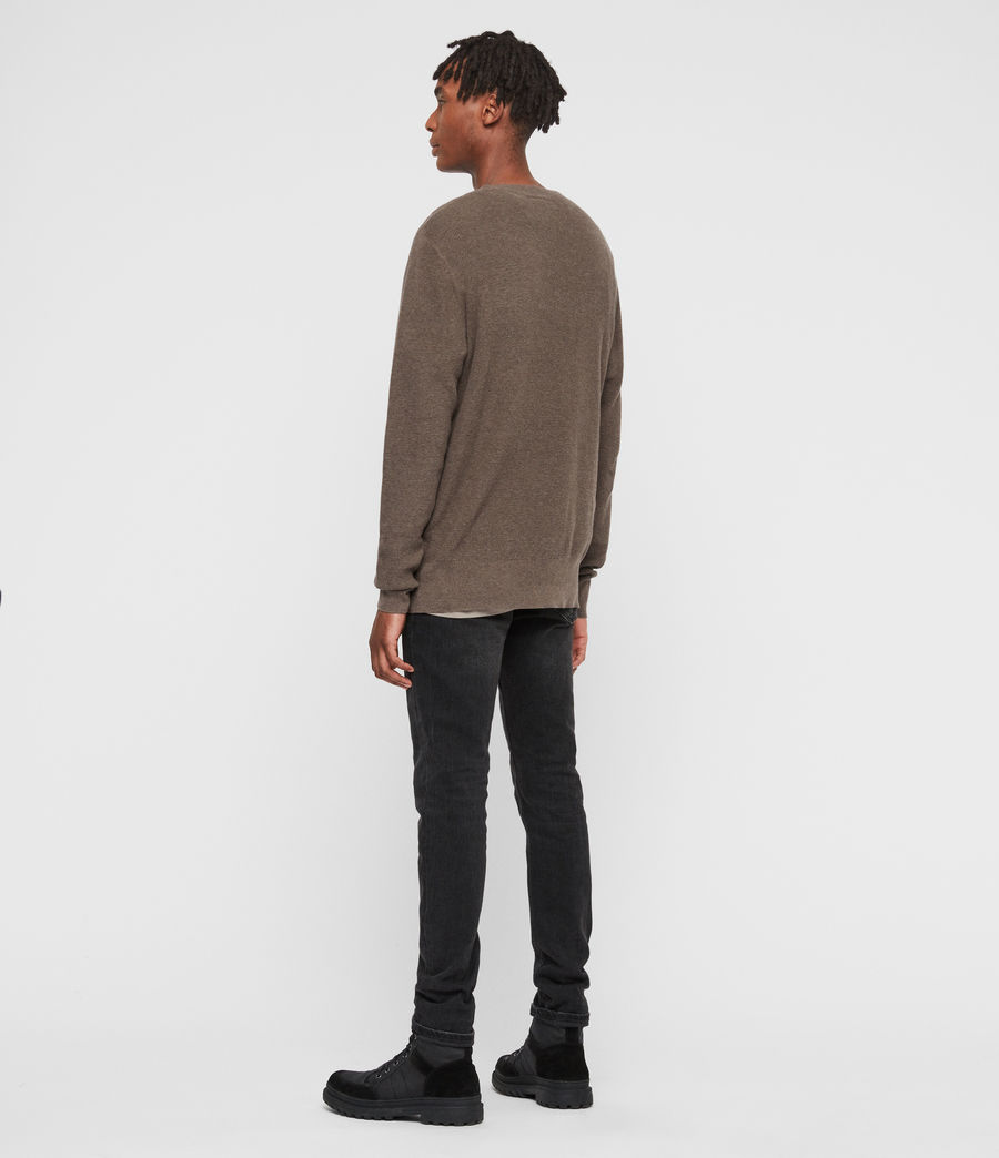 Men's Eben Crew Jumper (fawn_brown_marl) - Image 5
