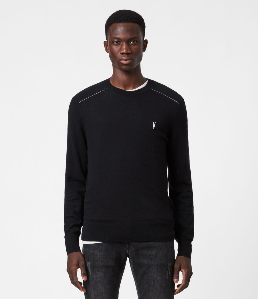 Mens Helm Crew Sweater (black) - Image 1