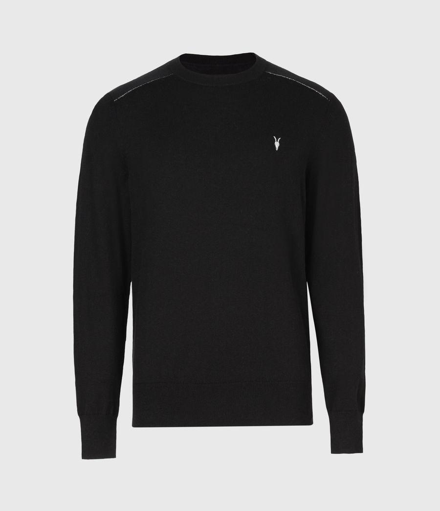 Mens Helm Crew Sweater (black) - Image 2