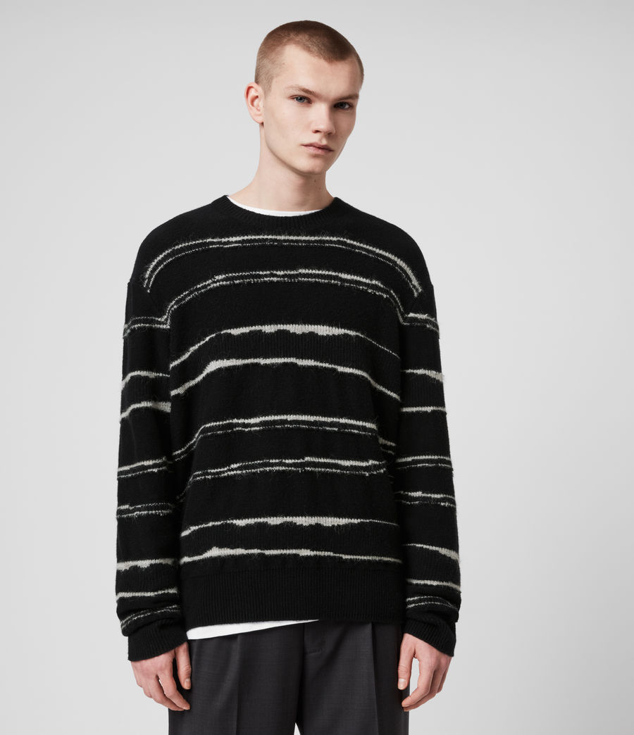 Mens Lectro Crew Sweater (black_grey_marl) - Image 1