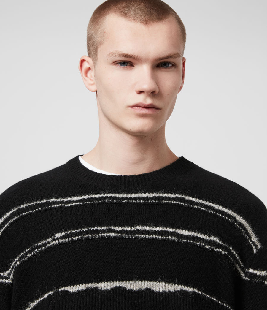 Mens Lectro Crew Sweater (black_grey_marl) - Image 2