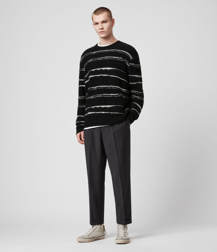 Mens Lectro Crew Sweater (black_grey_marl) - Image 3