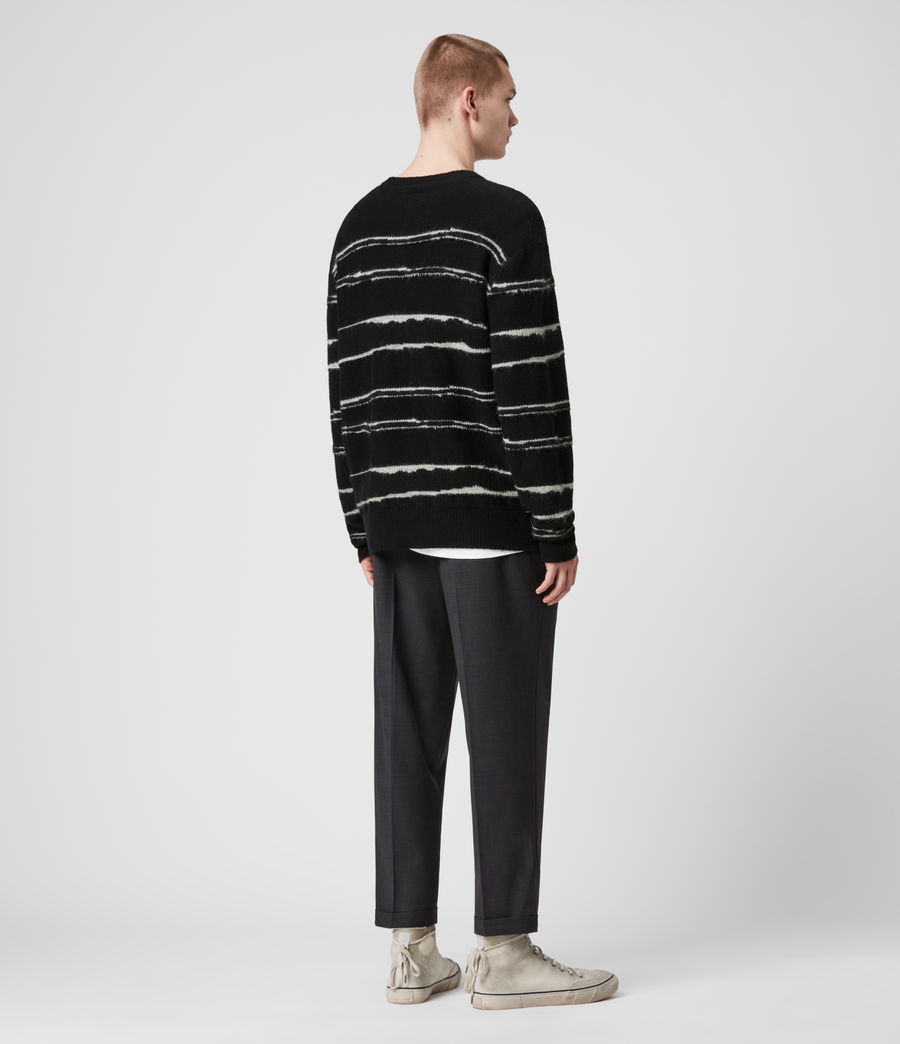 Mens Lectro Crew Sweater (black_grey_marl) - Image 5