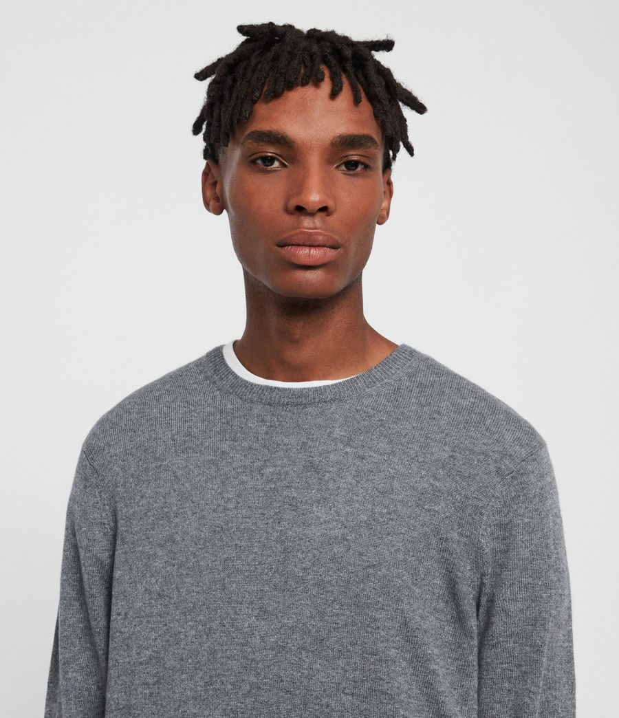 Men's Valter Crew Jumper (grey_marl) - Image 1