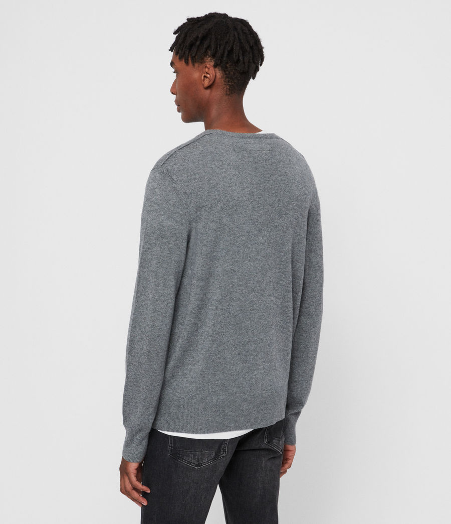 Men's Valter Crew Cashmere Blend Jumper (grey_marl) - Image 5