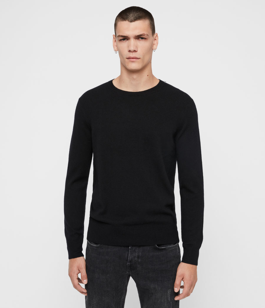 Mens Valter Crew Sweater (black) - Image 1