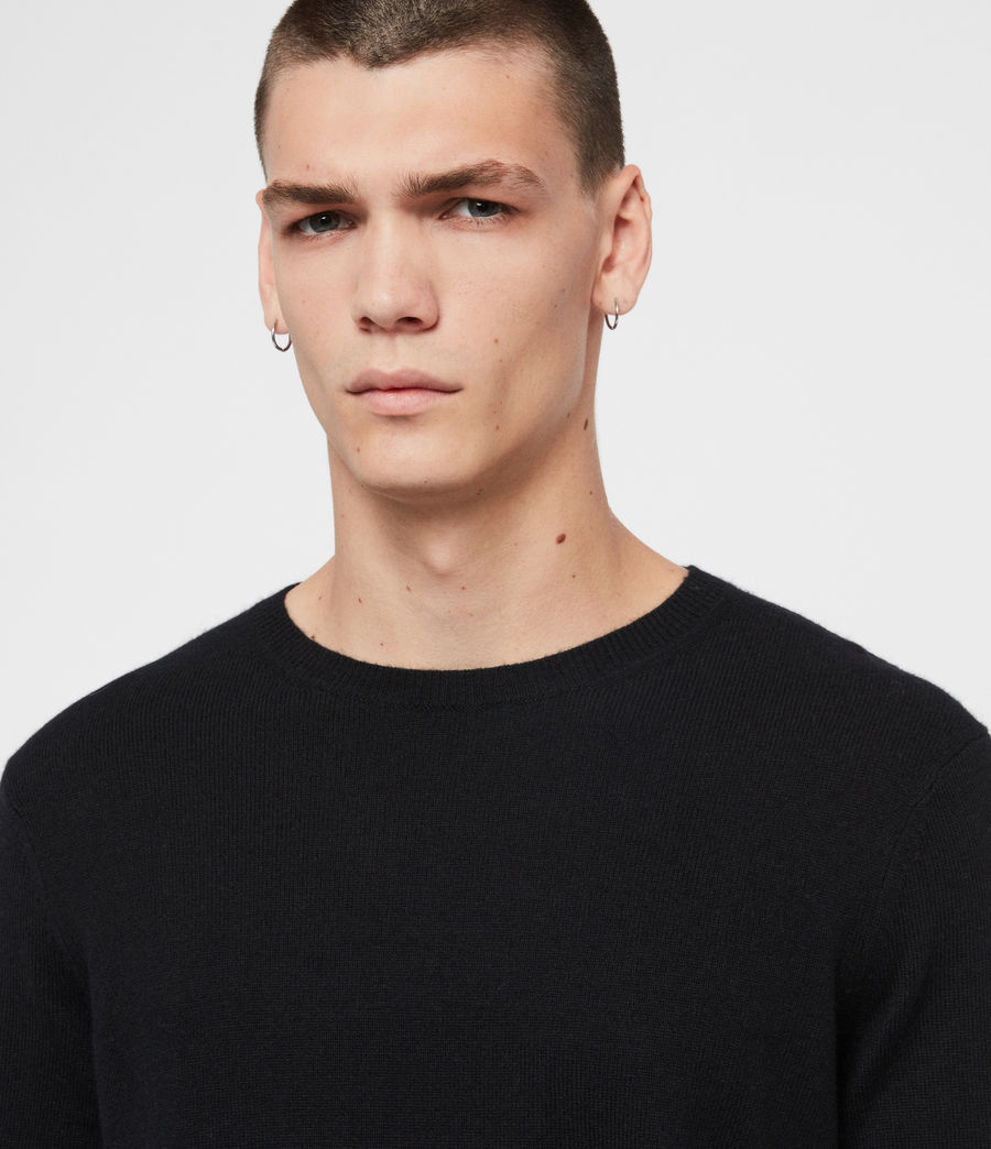 Mens Valter Crew Sweater (black) - Image 2