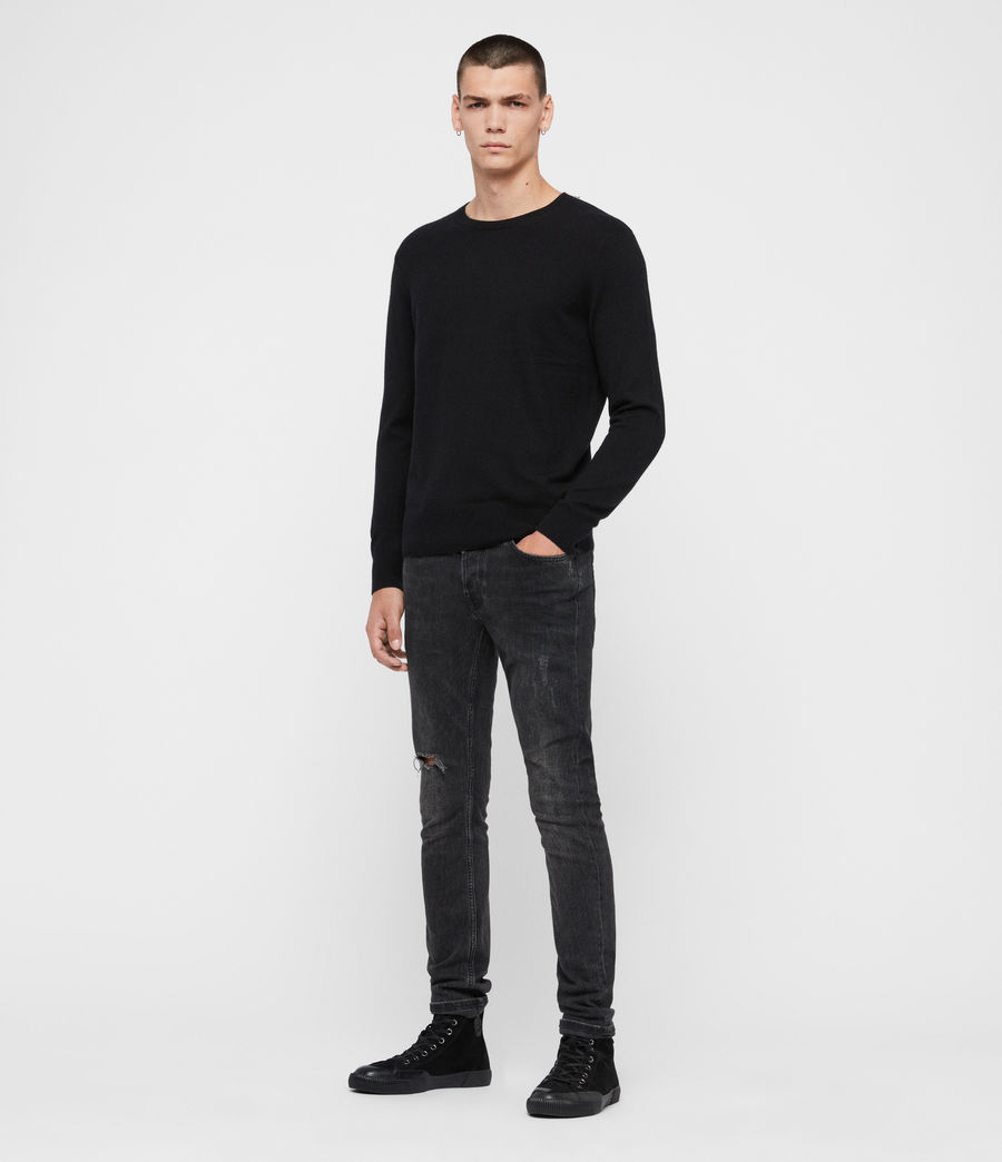 Mens Valter Crew Sweater (black) - Image 3