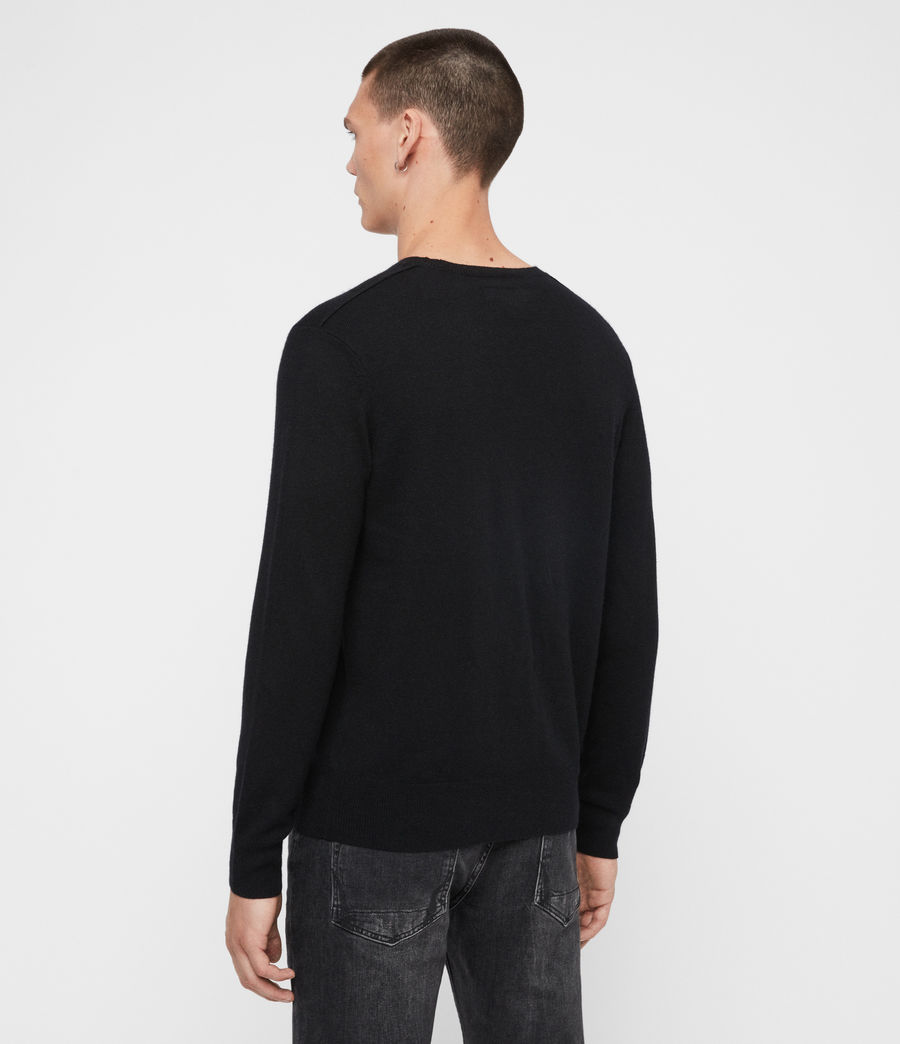 Mens Valter Crew Sweater (grey_marl) - Image 5