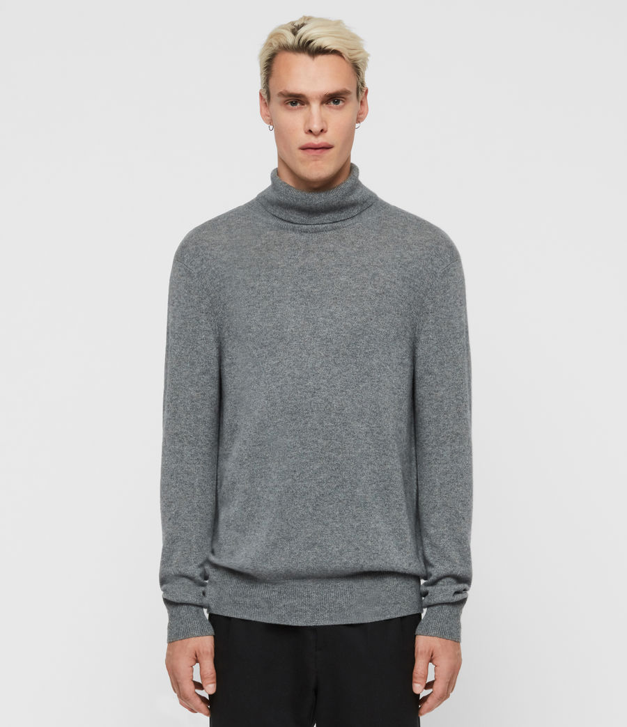 Mens Valter Roll Neck Sweater (grey_marl) - Image 1