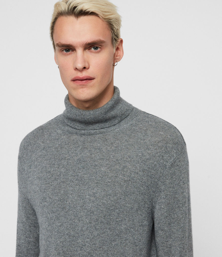 Mens Valter Roll Neck Sweater (grey_marl) - Image 2