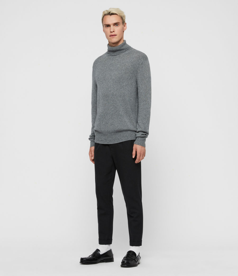 Mens Valter Roll Neck Sweater (grey_marl) - Image 3