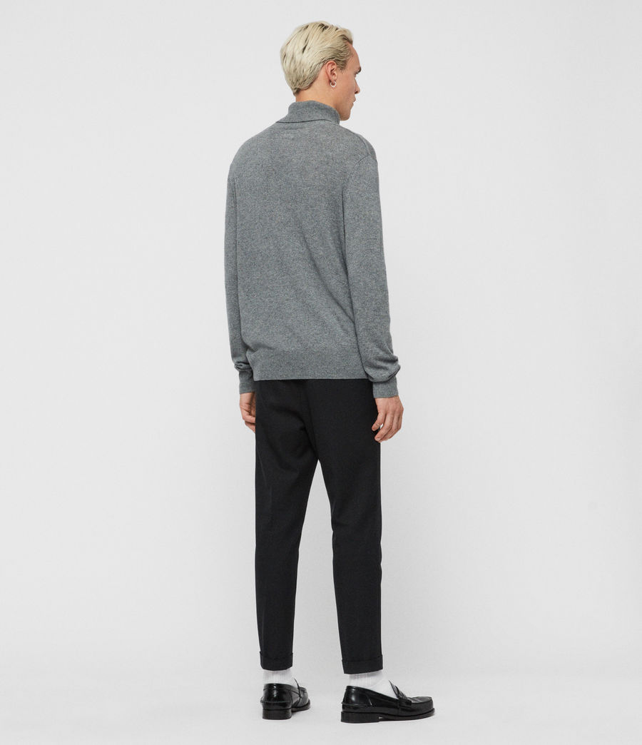 Mens Valter Roll Neck Sweater (grey_marl) - Image 6