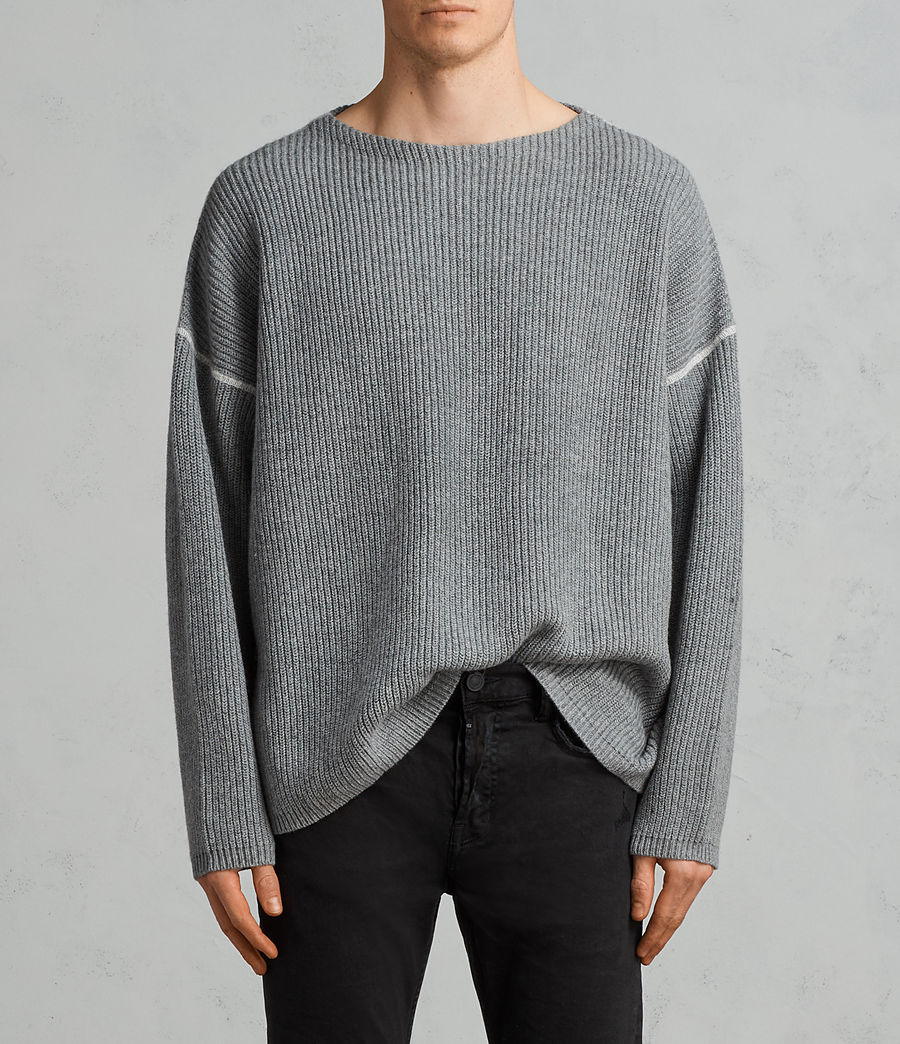 Men's Bind Crew Jumper (grey_marl) - Image 1