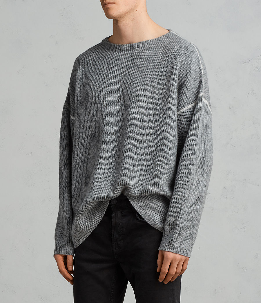 Men's Bind Crew Jumper (grey_marl) - Image 2