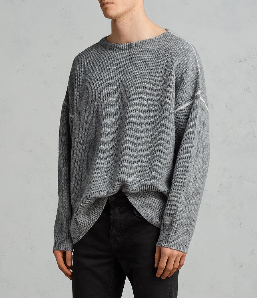 Herren Bind Pullover (grey_marl) - Image 2