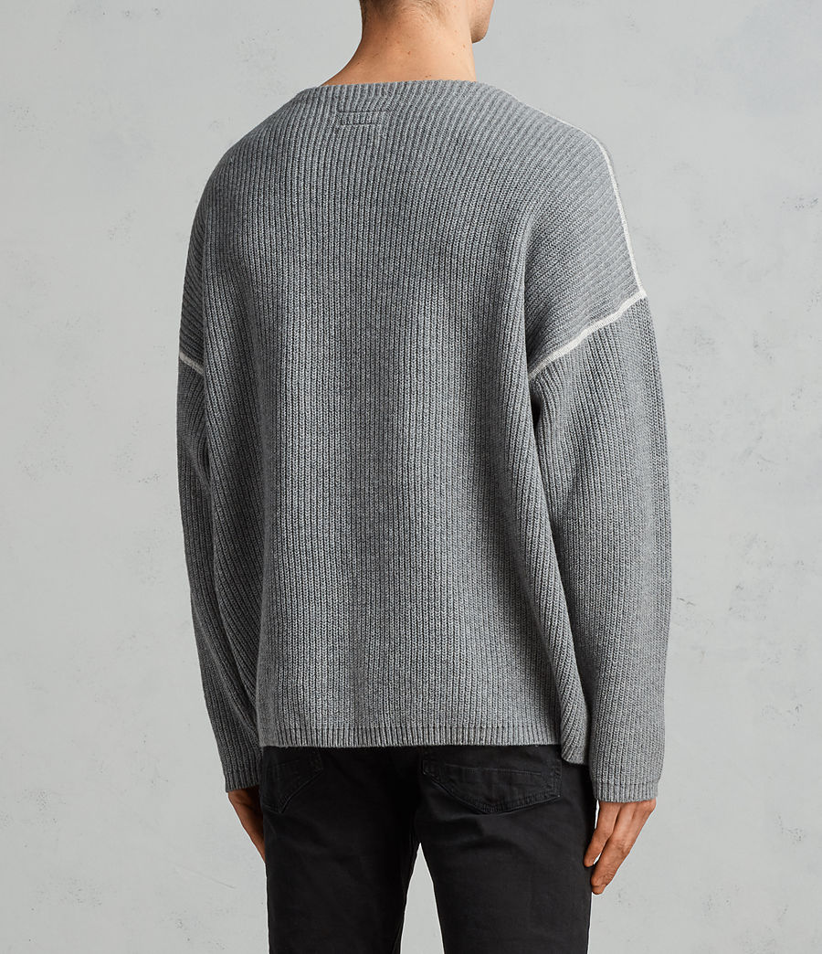 Men's Bind Crew Jumper (grey_marl) - Image 3