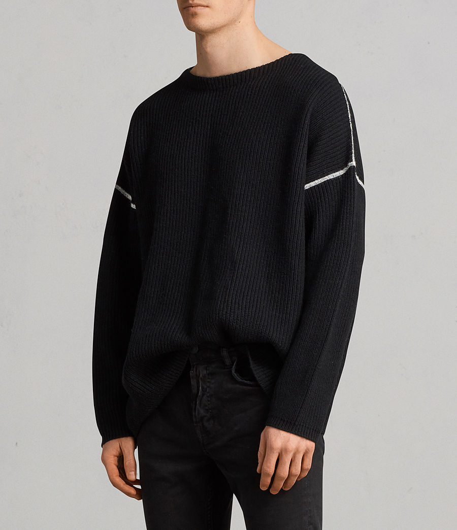 Men's Bind Crew Jumper (black) - Image 2