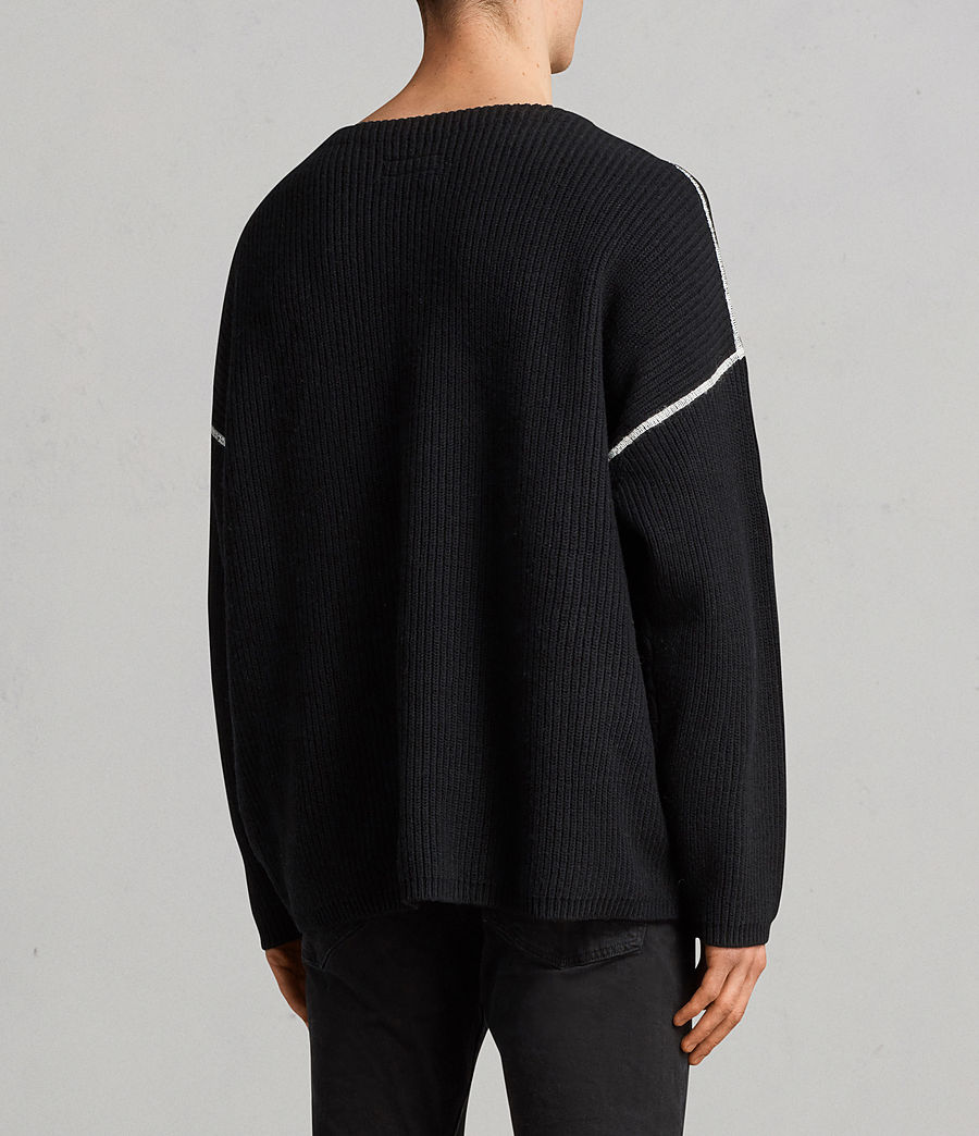 Men's Bind Crew Jumper (black) - Image 3