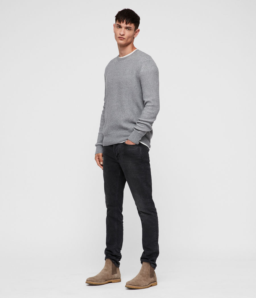 Men's Natan Crew Jumper (grey_marl) - Image 3