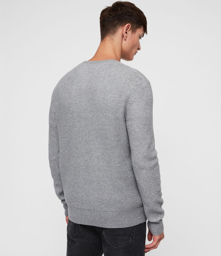Men's Natan Crew Jumper (grey_marl) - Image 4